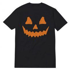 Pumpkin Face Black T-Shirt