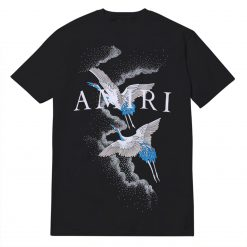 Amiri Crane Birds And Logo Print T-shirt