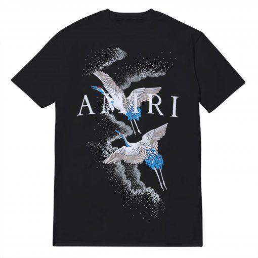 Amiri Crane Birds And Logo Print T-shirt