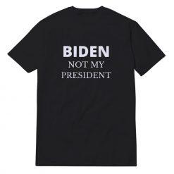 Biden Not My President Black T-Shirt Unisex