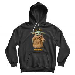 Baby Yoda Mandalorian Black Hoodie