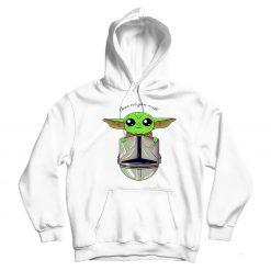 Baby Yoda Star Wars White Hoodie