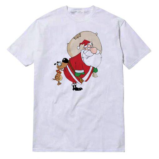 Beige Christmas White T-Shirt