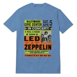 Led Zeppelin Concert 'Baltimore Civic Center' T-shirt