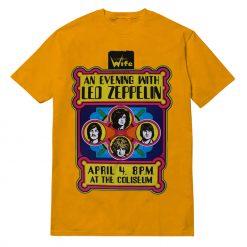 Led Zeppelin Concert 'At The Coliseum' T-shirt Design