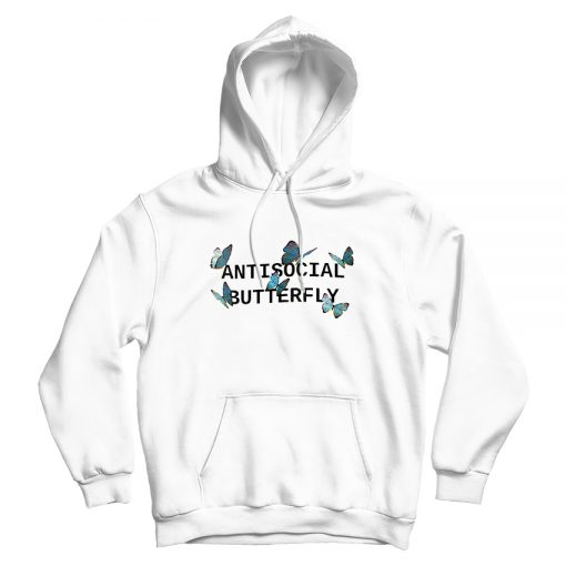 Antisocial Butterfly Hoodie For Woman's Or Men's