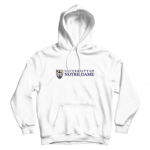 University of Notre Dame White Hoodie Woman's Or Men's