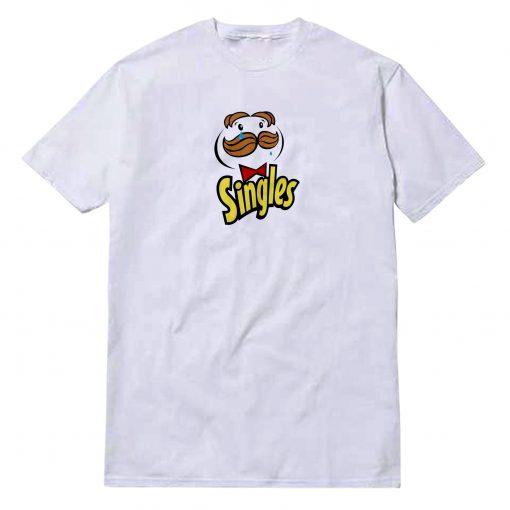 Singles Sad Parody Of Pringles Logo T-Shirt