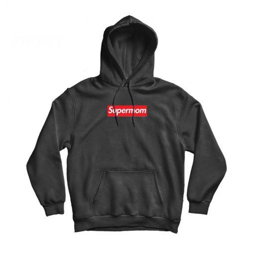 Supermom Funny Parody Box Logo Hoodie
